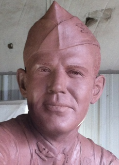 Portrait of William Darby in clay